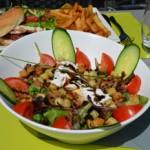 restaurant o mon'or curis salade lyonnaise