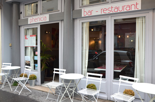 devanture phenicia restaurant libanais lyon 6