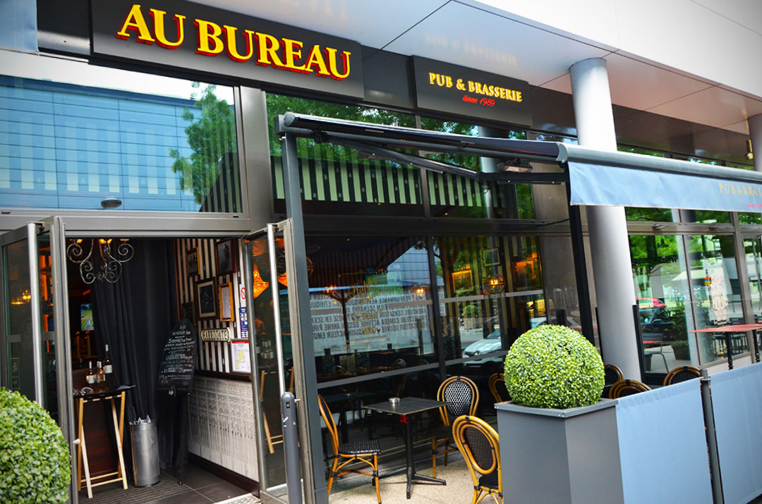 Au bureau restaurant groupe roches agencement de bars et for Bureau franconville