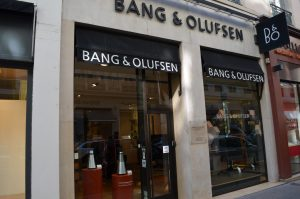 devanture bang olufsen lyon bellecour